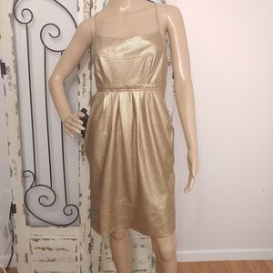 Alvin gold snakeskin-embossed dress size 6
